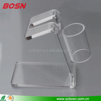 New Beauty Premium Clear Acrylic Tattoo Gun Holder / Display Stand