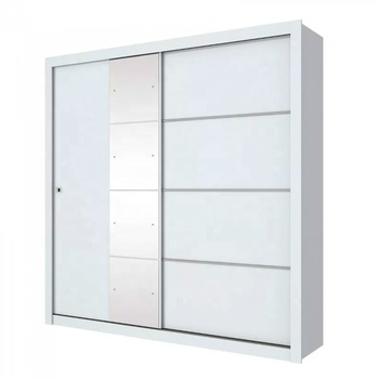 Modern Designed Single Mirror Sliding Door godrej almirah white   Wardrobes for home or apartment use