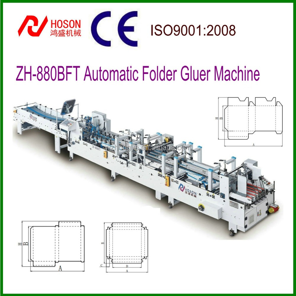 Automatic Folder Gluer Machine ZH-880BFT Folding Gluing
