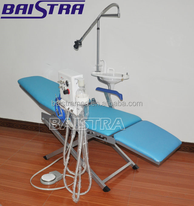 2017 Hot Selling Portable Dental Folding Chair with Turbine