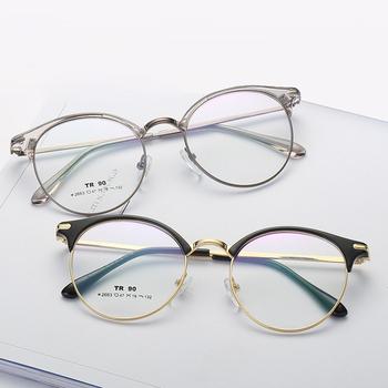 809bfe2c6e High Quality Factory Price TR90 Optical Frames Wholesale Spectacles  Eyeglasses Full Rim Metal Frames Stock