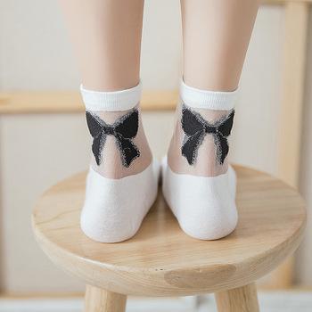 Hot girls in silk socks happens