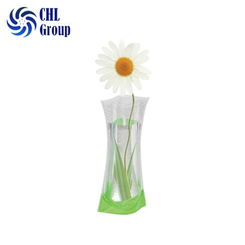 Wholesale Decoration Reusable Pvc Plastic Collapsible Vase For