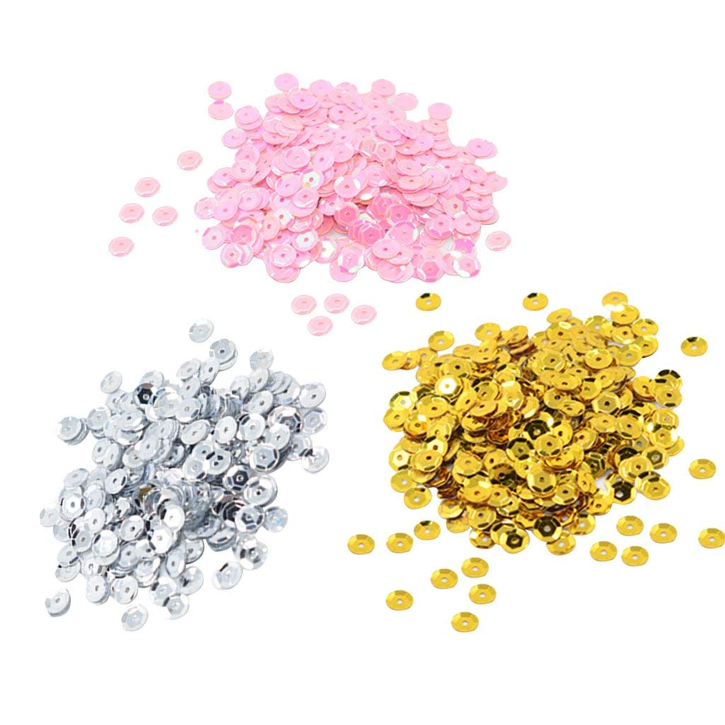 100GM BULK PACK ASSORTED METALIC /& AB ROUND CUP SEQUINS 7MM 1000,S PER PACK