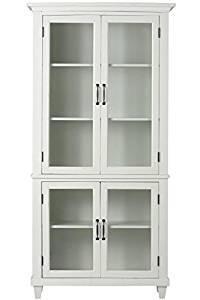 "Home Decorators Collection Martin Glass Bookcase, 72"" Hx36 Wx14 D, IVORY"