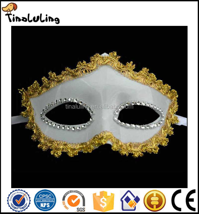 Eco-Friendly Fashion Party Masquerade White Plastic Masks for Sale