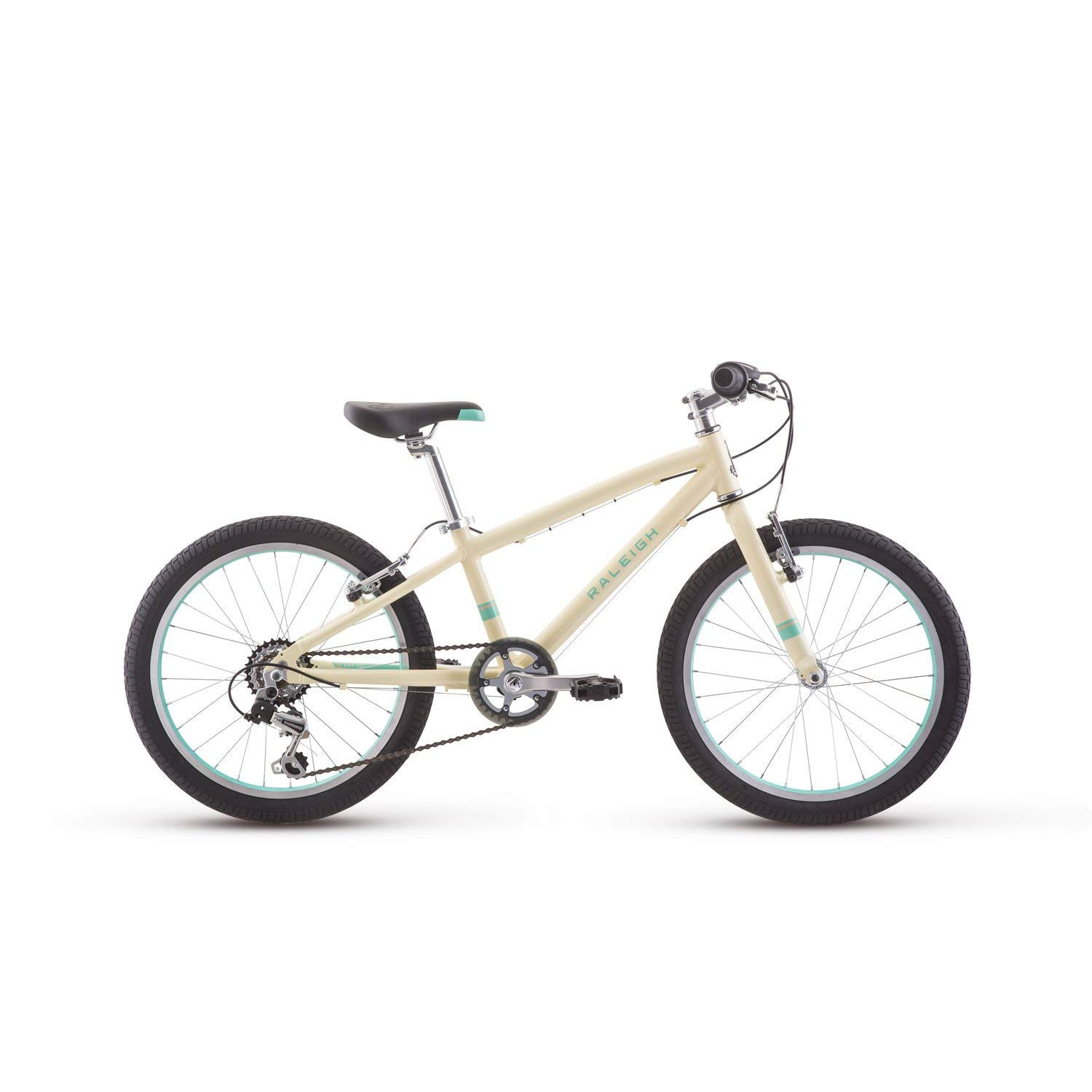 Raleigh Bikes Lily 20 Kids Mountain Bike Girls Youth 4-9 Years Old, White