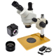 Professional 3.5X - 45X USB Camera Stereo Microscope For Microsoder Repairing