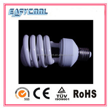 Half Spiral 11w 9mm 6000H mix powder cfl light bulb with cheap price
