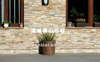 Decorated Oyster Slate Brick Veneer Tile Wall Coverings Ideas