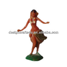 Miniature vintage <span class=keywords><strong>hula</strong></span> dancer <span class=keywords><strong>figurine</strong></span>