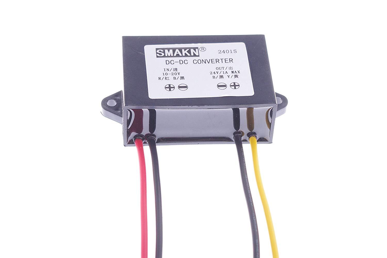 SMAKN® Waterproof DC/DC Converter 12v (10~20V) Step UP to 24V/1A 24V 1A 24W Power Supply Module