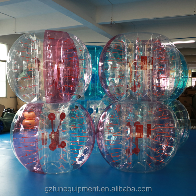 Human Inflatable Bumper Bubble Ball Bubble Football With Glowing String