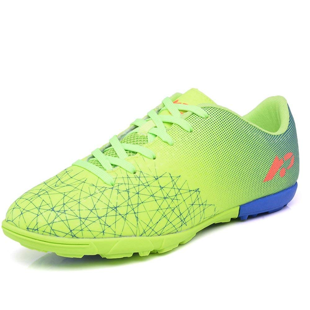 ed154045a75 Get Quotations · YING LAN Men s Boy s Turf Cleats Soccer Athletic Football  Outdoor Indoor Sports Shoes TF Green