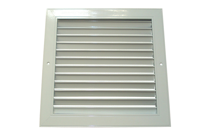 Square Aluminium Alloy Louvered Air Louvre Filter Vent For Bathroom