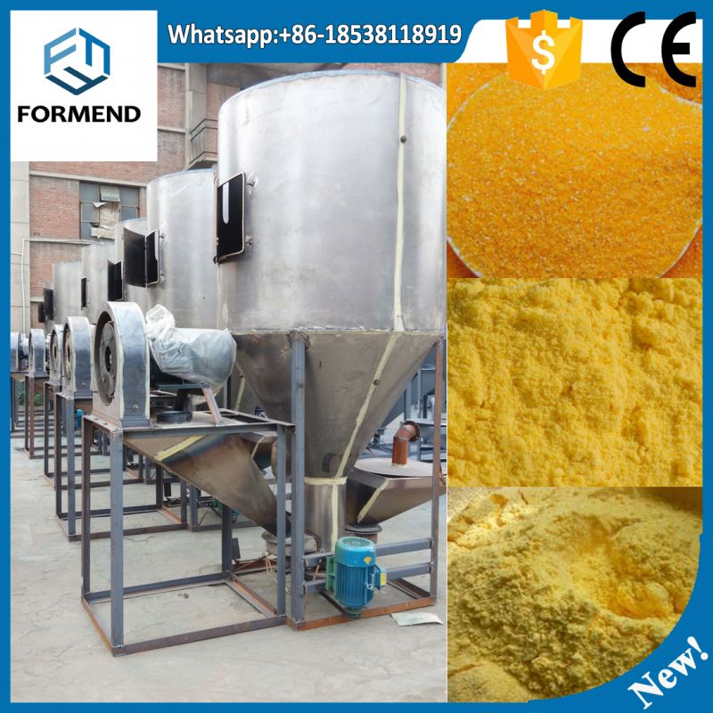 Combined grain crusher vertical feed mixer with feeding system