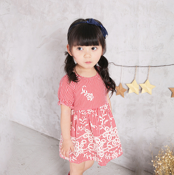 2017 new children's summer dress girl's floral dress Children's princess