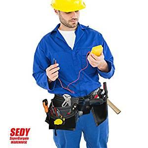 FNK_SEDY Electrician 8 Pocket Carry Belt Tool Bag Leather Utility Kit Holder leather Bags leather 100 Original Men 100ml Ganzo