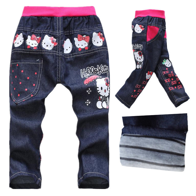 826f902b8 Buy Kids Girls Jeans For Children 2015 Hello Kitty kd 7 Children's Jeans  Cheap Clothes Size 2-7 Years Old Cotton Girl's Pants in Cheap Price on  ...