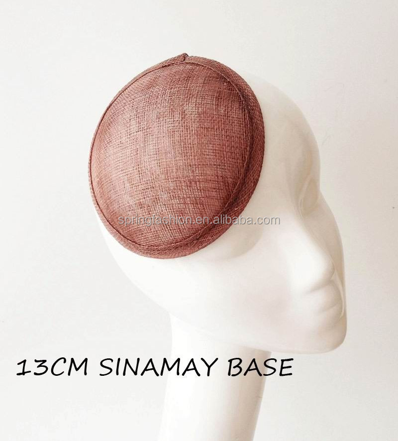 13cm sinamay base available in any colors/wholesale fascinator base/hat millinery
