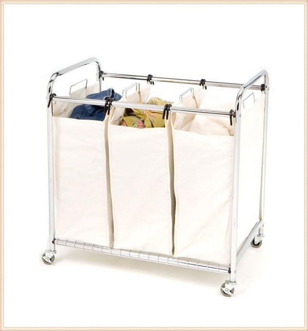 laundry clothes bag sorter hamper storage folding laundry cart wheels