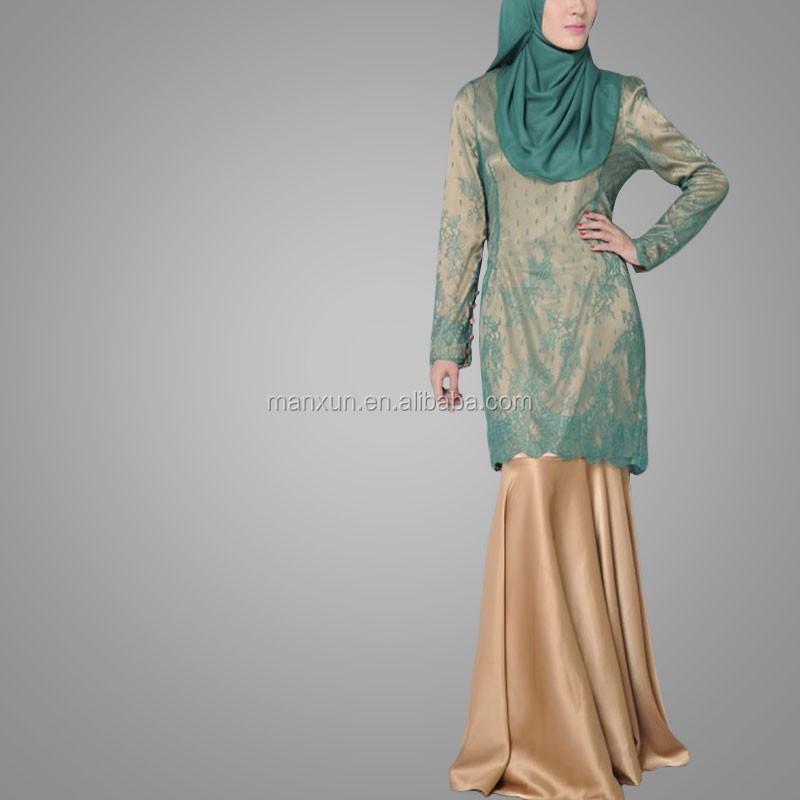 New Fashion Elegant Baju Kurung Latest Muslim Abaya