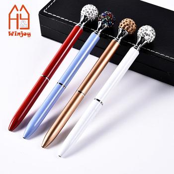 Custom personalized logo printing Crystal Diamond Pens - Beautiful Bling  Metal Ballpoint Pen for Women a29c5ef090