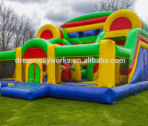 Inflatable bounce combo with slide /inflatable mini combo jumper/kids jumping playground