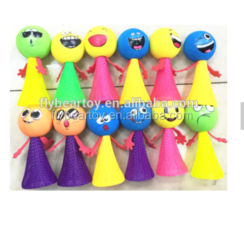Customized fidget 12pcs face printing Jumping elf Plastic jump elf bounce toy kids jumping elf toys