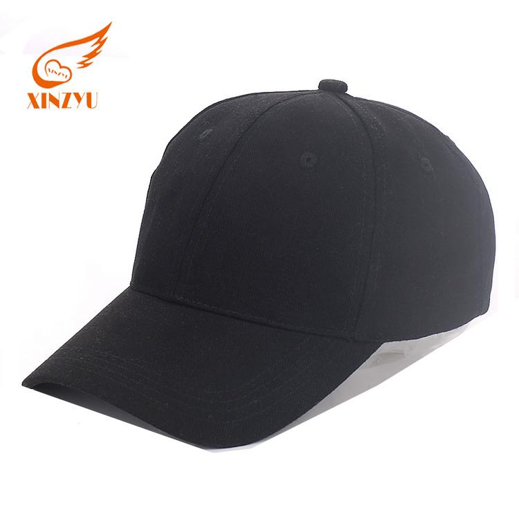 Promotional Sample Free Blank Baseball Caps Black Cotton Baseball Cap  Without Logo 61b118aac03
