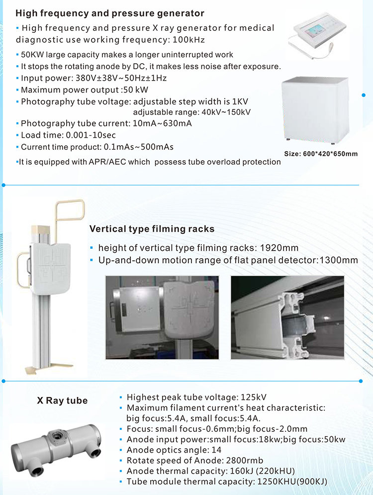 Factory Direct MY-D023A MAYA Medical 50KW Diagnostic HF X-Ray Machine price for SALE
