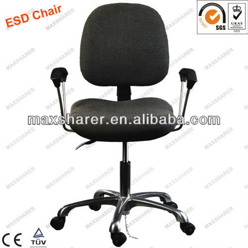 big size comfortable esd cleanroom chair with armrest for european people
