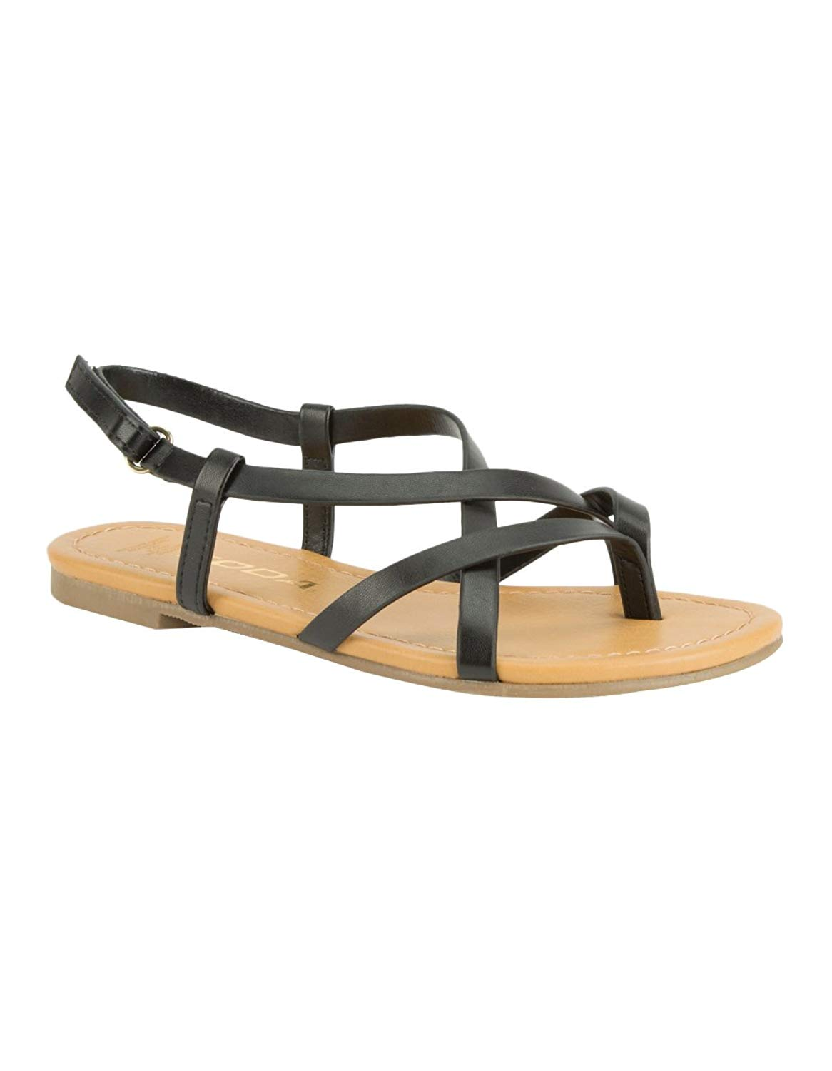 514220ea5 Get Quotations · Soda Criss Cross Girls Sandals