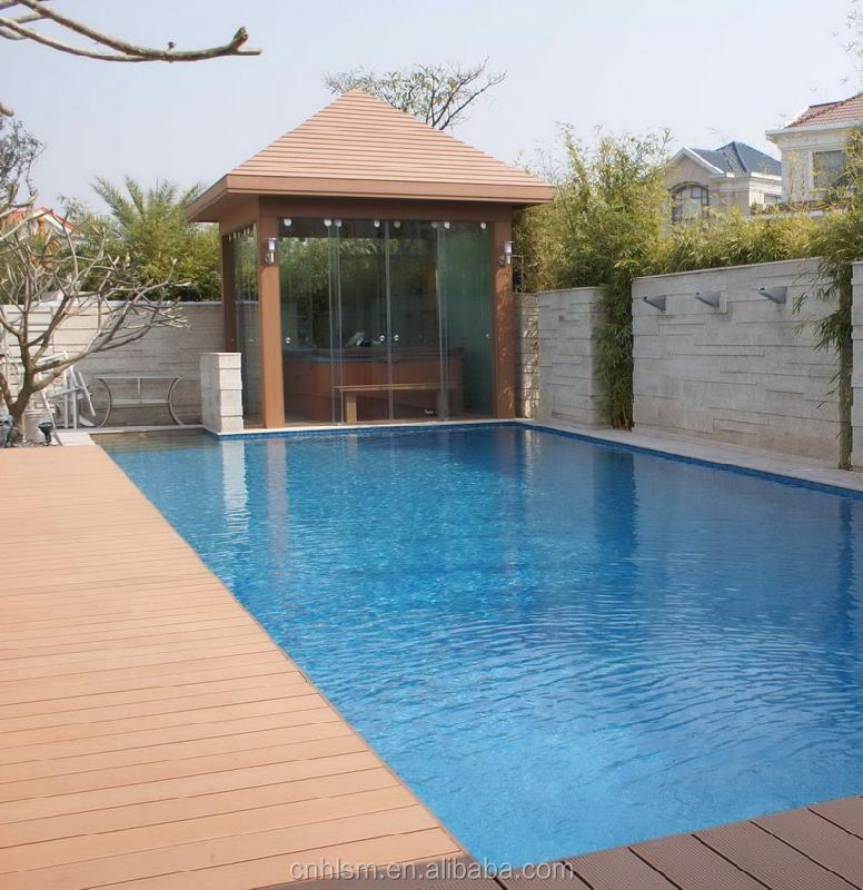 swimming pool composite decking / swimming pool decking wood