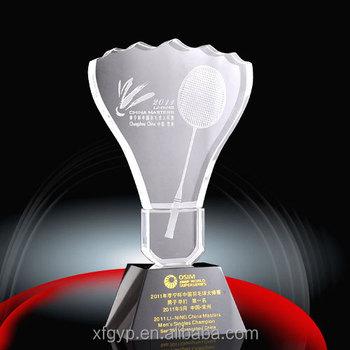Kristall Badminton Pokale Für Badminton Buy Pokale Für Badminton