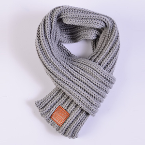 New Fashion Autumn and Winter Simple Solid Color Warm Kid Knit Scarf with 9 colors