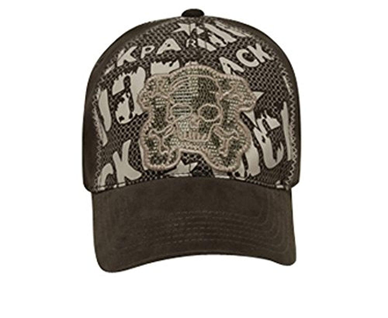 Hats & Caps Shop Lackpard Flex Skull Mesh Embroidered Design Caps - By TheTargetBuys