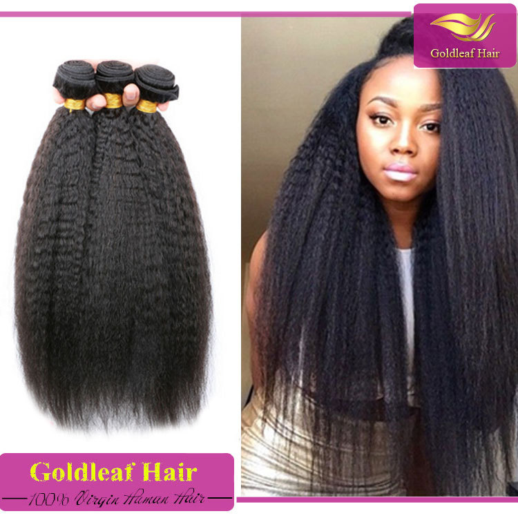 Unprocessed Mongolian Kinky Straight Hairkinky Straight Human Hair