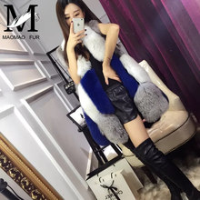New Arrived 2016 Colorful Mink Fur Vest / Beautiful Real Fox Fur Vest Coat