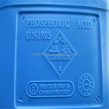 Industrial Grade Phosphoric Acid 85 Food Grade Chemical Formula
