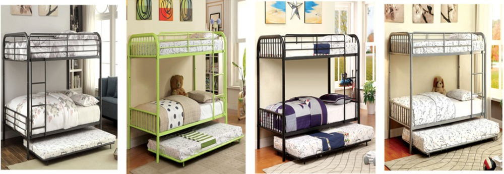 Wholesale Chinese Cheap Full Size Twin Size Metal Bunk Beds With