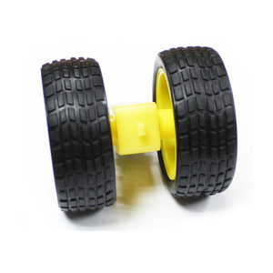 Plastic Tire Wheel with DC 3 6V Gear Motor for Smart Car Robot