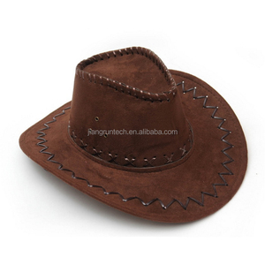 2019 promotional high quality cheap men women fashion suede stock cowboy hats