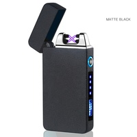 Fren Relief Dragon Windproof Cross Arc Lighter, USB Rechargeable Flameless Electronic Pulse Arc Cigarette Lighter