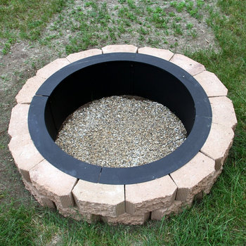 Fire Pit Rim Make Your Own In Ground Fire Pit
