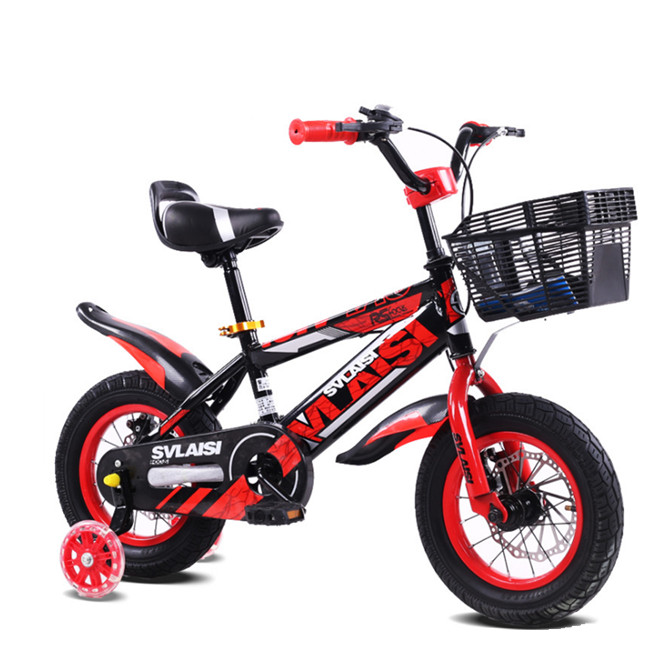 12 inch kids bike with double disc brake/ steel frame girl bike with PU flashing wheel bicycle