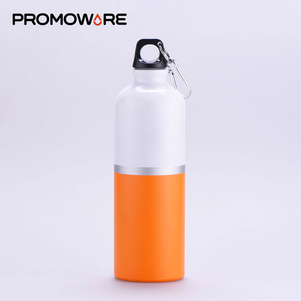 Two-Tone 2 Tone 750ml New Style Water Bottle 750ml Aluminum Cheap Small Mouth Water Bottle for Water Drinking with Carabiner