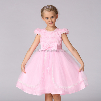 New Fashion Cap Sleeve Princess Birthday Party Dresses For Girls 12