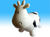 PVC inflatable jumping cow bouncing rocking animals toys for kids