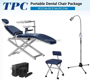 Good Price Convenient Foldable Mobile Portable Dental Chair and Dental Stool with LED light